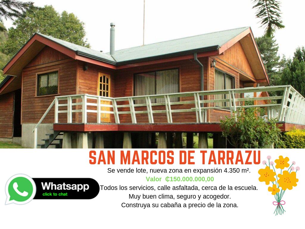 Lote San Marcos de Tarrazú Nueva zona de Expansión 4300m² ₵150.000.000,00